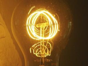 light bulb by Thomas Edison